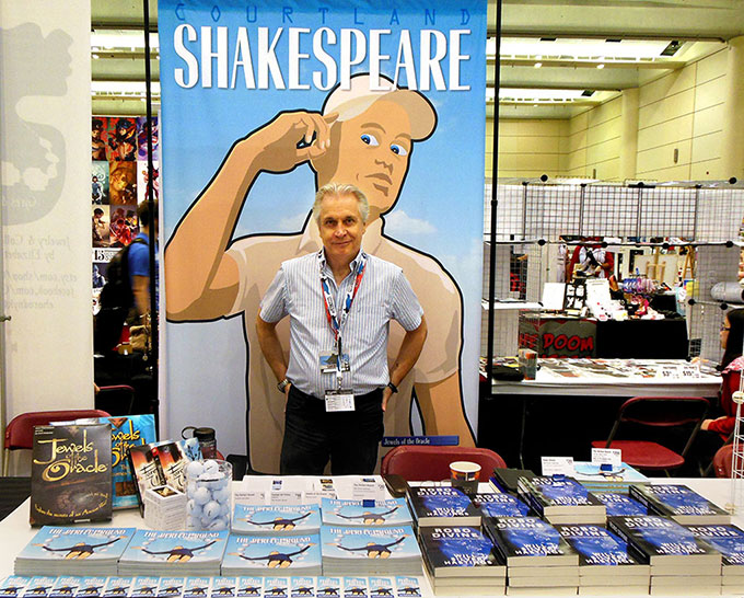 Fan Expo 2015 Courtland Shakespeare dealer table